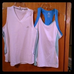 TWO Adidas Work Out Tanks!!